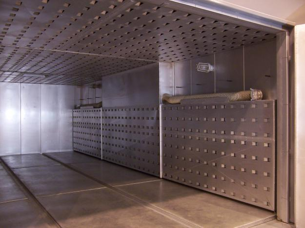 Indirect gas fired curing oven