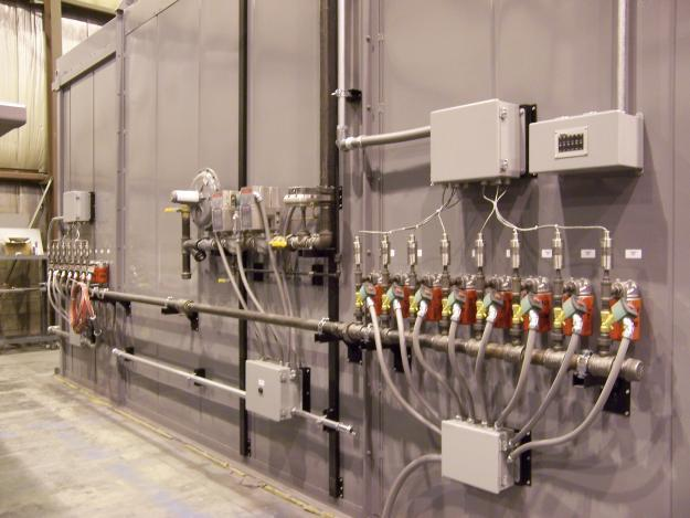 Vacuum piping for composite curing