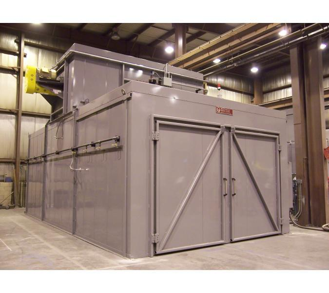 Gas fired composite curing oven