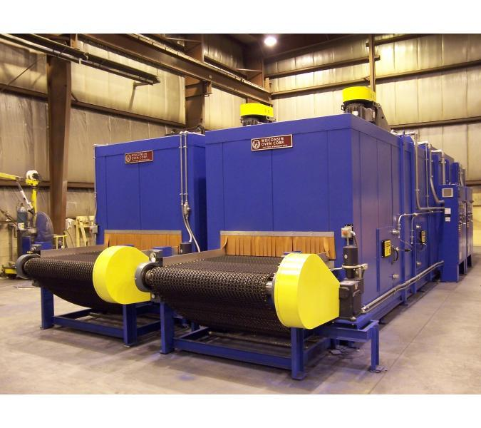 Belt Conveyor Ovens & Furnaces bottom flow