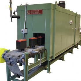 shrink wrapping conveyor oven