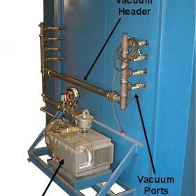 Vacuum piping system for composite curing oven